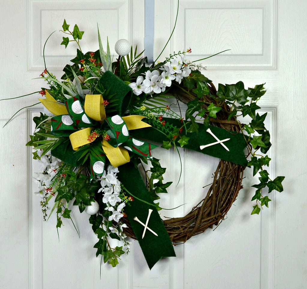 Golf Sports Wreath for the Front Door