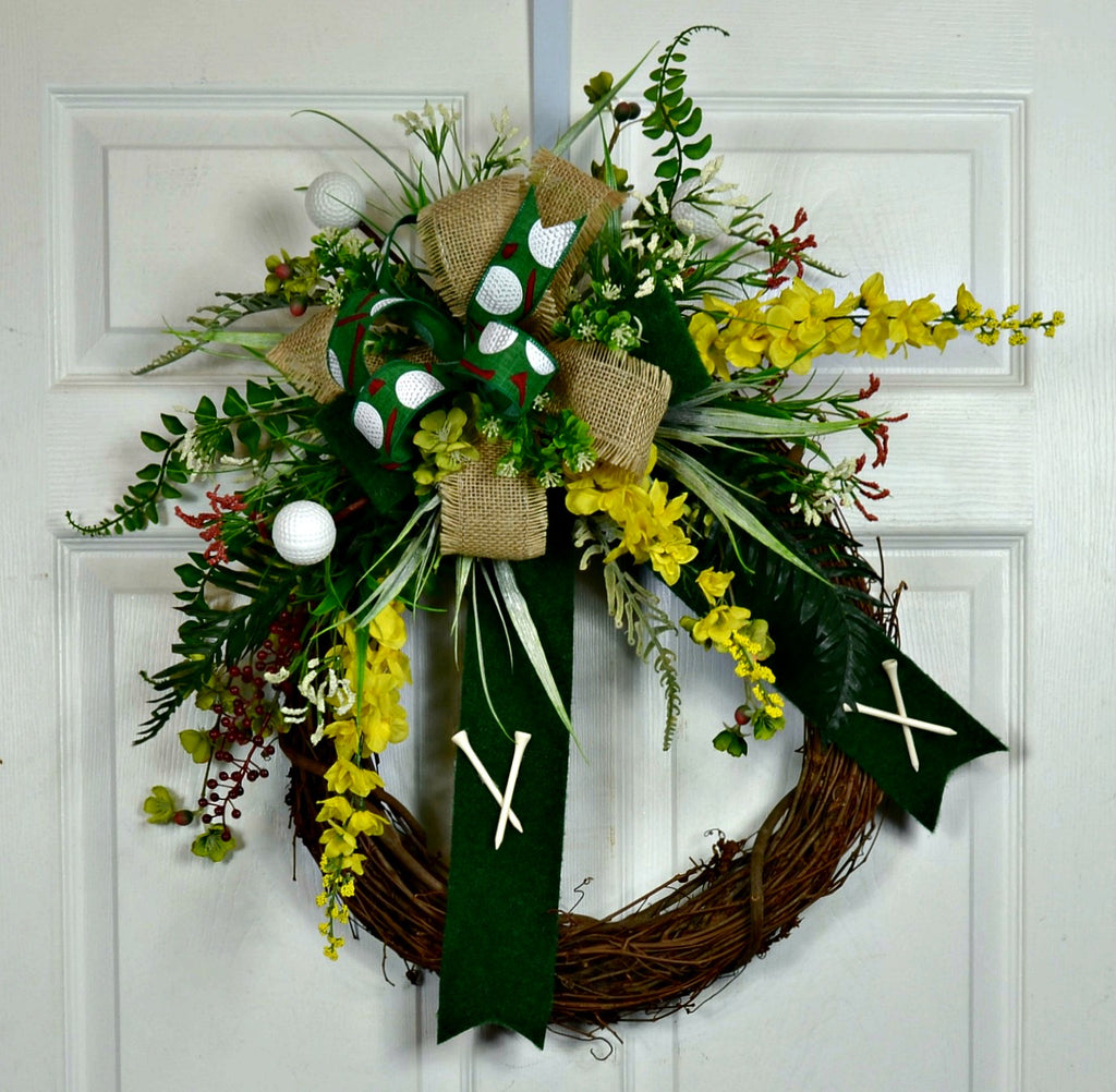 Golf Wreath for the Outdoors