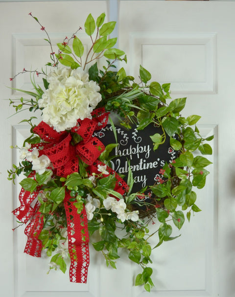 Happy Valentine's Day Door Wreath