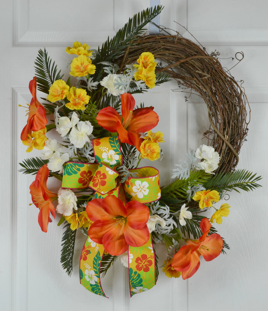 Hawaiian Luau Fiesta Wreath