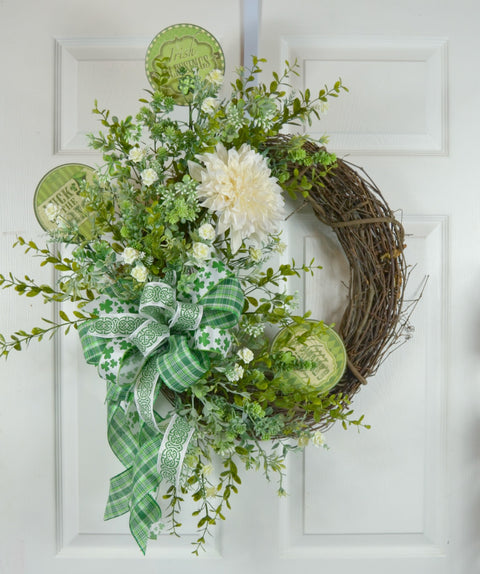 Irish Blessing St Patrick's Day Wreath
