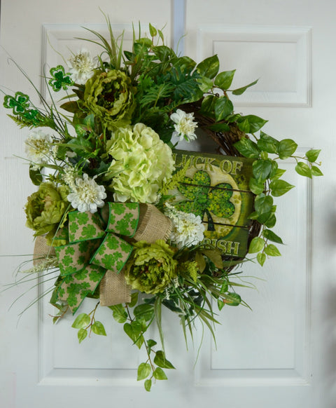 Luck of the Irish Grapevine Wreath