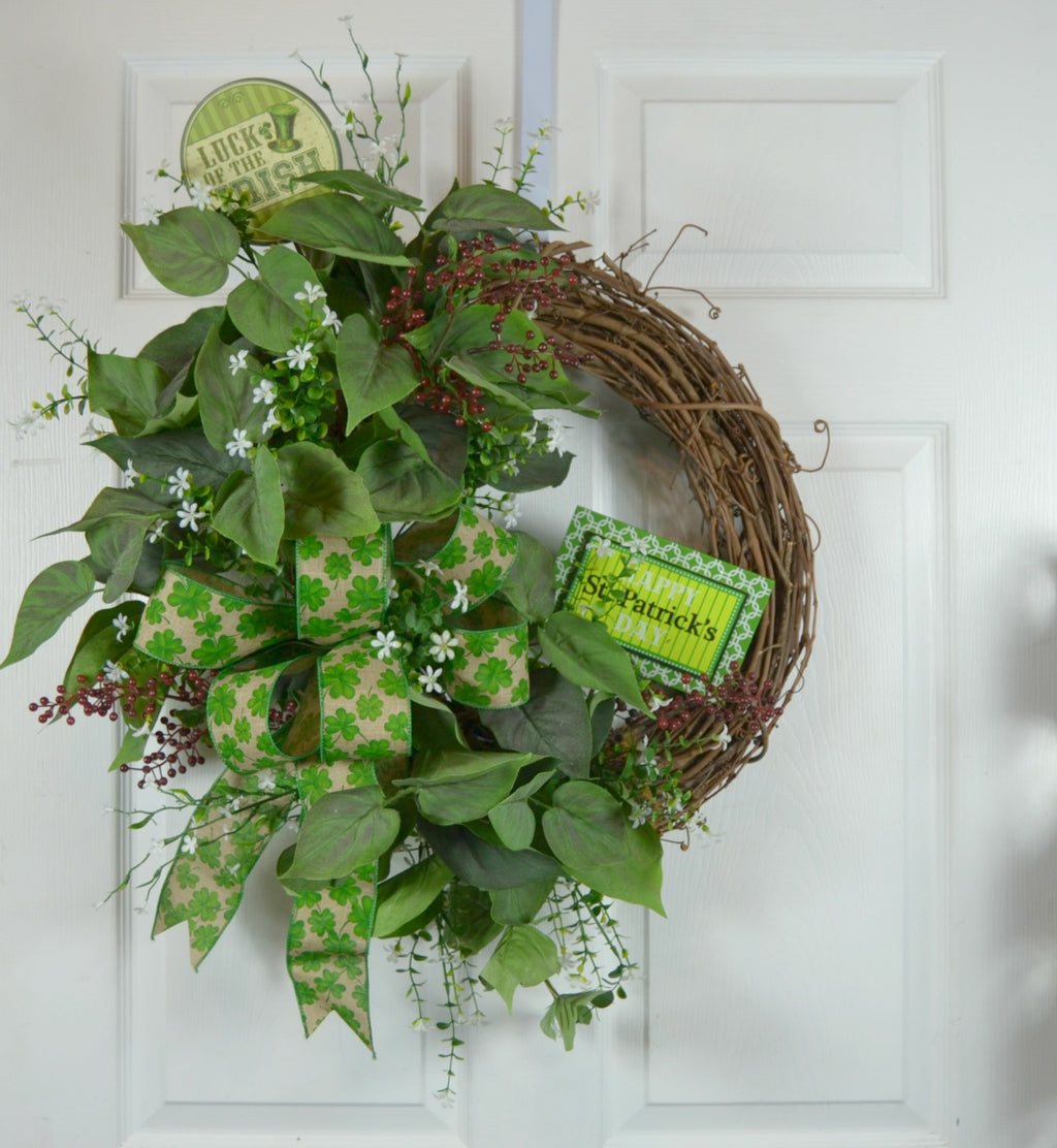 Luck of the Irish St Patrick's Wreath