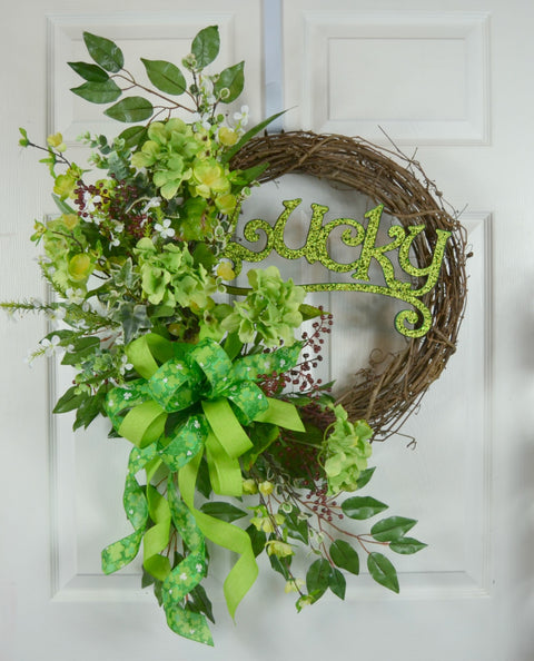 Lucky St Patrick's Day Wreath