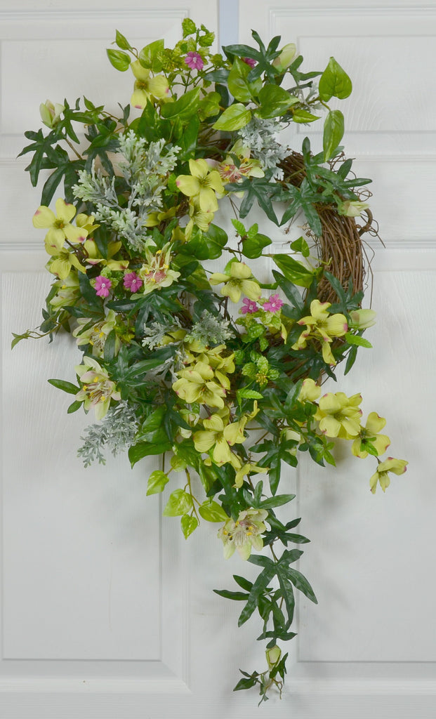 RV & Motorhome Summer Floral Dogwood Wreath