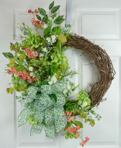 St Patrick Day Grapevine Wreath
