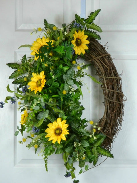 Sunflower Front Door Wreath