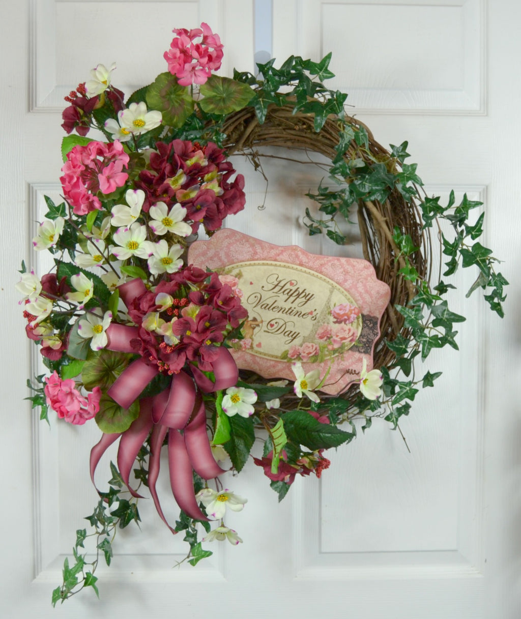 Valentine's Day Hydrangea Wreath