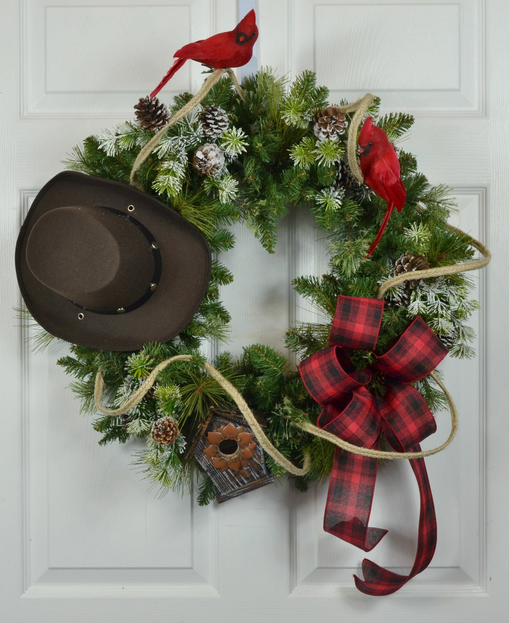 Western Cowboy Christmas Wreath