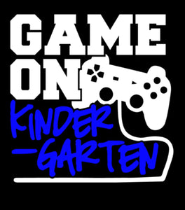 Game on - school grade - Blue Design - WITHOUT NAME - KIDS