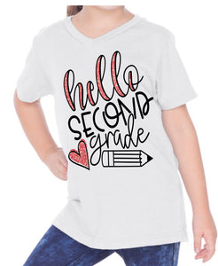 Hello School grade - heart - WITHOUT NAME - KIDS