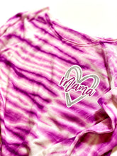 Mama Heart Tie Dye Terry Off Shoulder