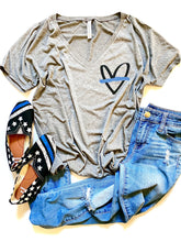 Thin blue line heart - POCKET DESIGN