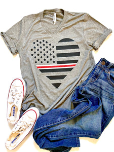 Thin white/red line heart - NURSES/MEDICAL