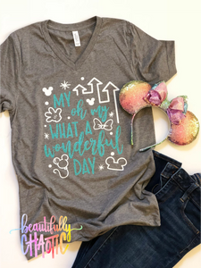 My oh my what a wonderful day- Teal design