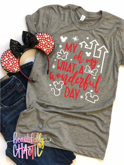 My oh my what a wonderful day- Red design