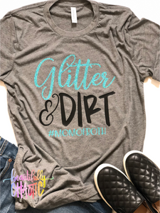 Glitter and dirt - Teal Design