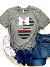 Thin White and red line minnie mouse - MEDICAL/NURSE
