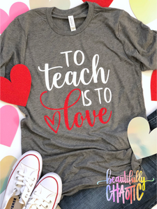 To teach is to love - Red Design