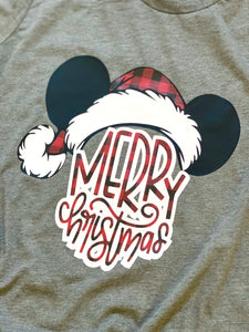 Merry Christmas MICKEY KIDS - BUFFALO PLAID KIDS