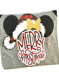 Merry Christmas Minnie KIDS - BUFFALO PLAID KIDS