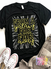 From a galaxy far far away- yellow glitter
