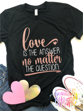 Love is the answer no matter the question