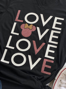 LOVE minnie -KIDS- Black & Rose gold version