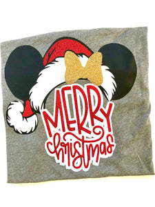 Merry Christmas Minnie KIDS - RED GLITTER KIDS