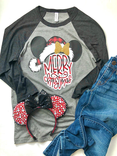 Merry Christmas - MINNIE BUFFALO PLAID