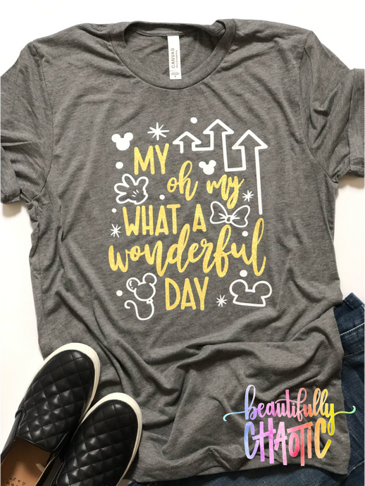 My oh my what a wonderful day- Yellow Design