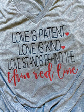 Love is patient love is kind- thin red line