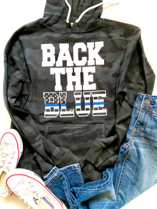 BLACK CAMO - Back the Blue