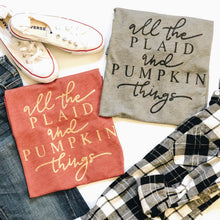 All the plaid and pumpkin things - GOLD GLITTER DESIGN