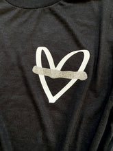 Thin silver line heart- Pocket design
