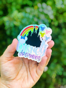 Disney dreaming holographic- STICKER