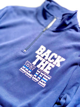Back the Blue- POCKET - Quarter Zip
