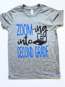 ZOOM-ing into - School Grade- Blue Design - KIDS