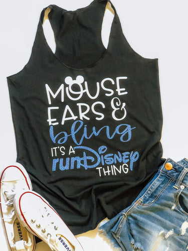 Mouse ears and bling- Run Disney