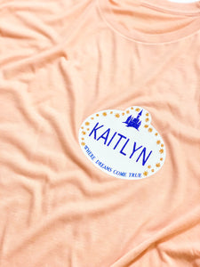 Disney Inspired Name Tag