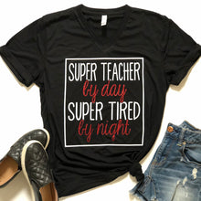 Super teacher by day, super tired by night.
