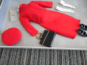 "The Jackie Doll Accessories ""Mountie"" Red Suit Dress"