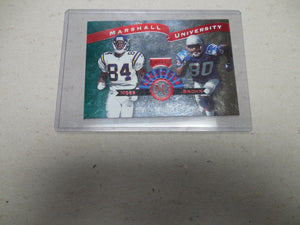 1999 Playoff Prestige SSD Alma Maters Patriots Football Card #AM4 R.Moss/T.Brown