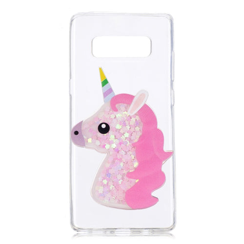 Glitter Unicorn Cover For Galaxy