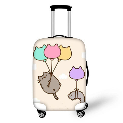 Pusheen With Balloons Suitcase