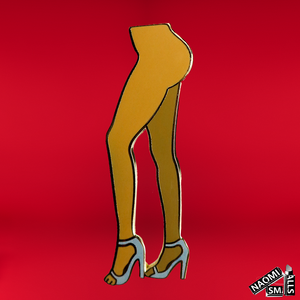"Naomi + Just Peachy ""Legs"" Pin UK"