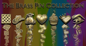 Brass Pin Collection: Monique's Crowned Heart Monique Heart Merch Europe UK