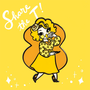 Kim Chi Spill the T pin yellow Kim Chi Merch
