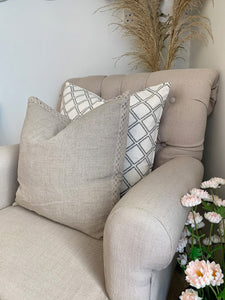 Lace Natural Trim Cushion
