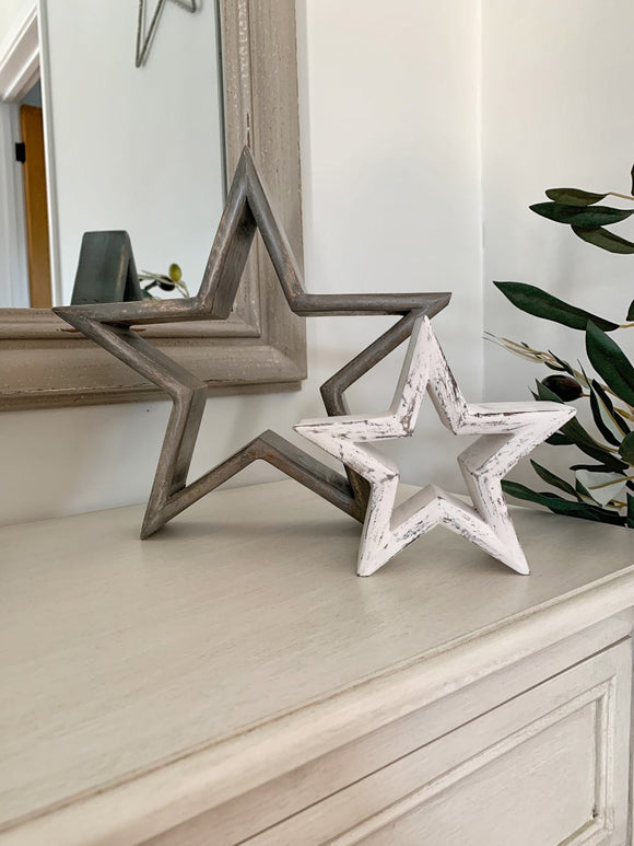 PRE-ORDER- AUGUST Set of 2 Mantelpiece Stars